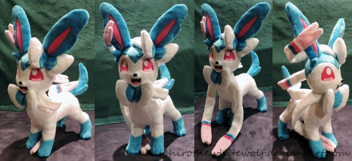 [PLUSHIE] Shiny Sylveon SOLD by ShiroTheWhiteWolf