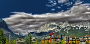 Canmore Skyline HDR 2 by DTherien