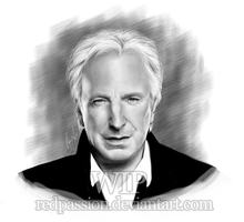 Alan Rickman WIP by RedPassion