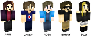 GAME GRUMPS MINECRAFT SKINS (free to use!) by TVZRandomness
