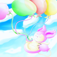 Skitty and Balloons (edited) by lavaquil