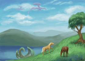 Speed Paint 2: Horseys and dragoneys by Andreiuska