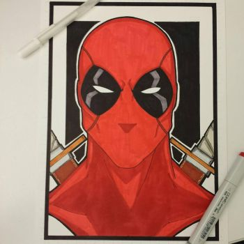 Deadpool bust colored and finished by drtidigler
