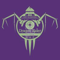 Military Dragon Rider T-Shirt Design by goblinworkshop
