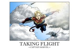 Taking Flight: Carol Danvers as Captain Marvel by IronWarrior777