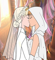 Elsanna wedding (drawing 6) by Arendellecitizen
