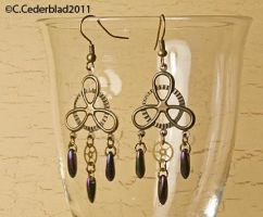 Steampunk bronze earrings by skuggsida