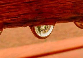City view in a drop of water by Stilleschrei