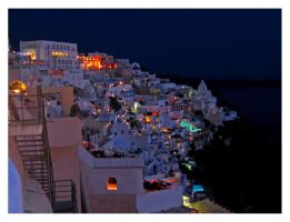 Santorini by night by Pecetta