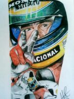 Ayrton Senna Tribute Tattoo by phantomphreaq