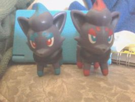 Zorua shiny custom by omgCheez