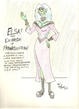 Elsa! The EX-Bride of Frankenstein! by gothold
