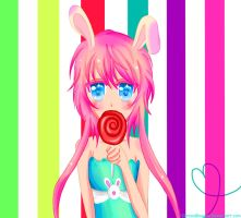 Usagi-chaaann x3 You want to eat candy? by CerezoBlossom