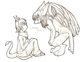 I miss you - SD Submission by chiyokins