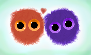 Furry Creatures (Purple and Orange) by Zarcher