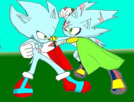 Request: Nazo and His Son Naxzo Fighting by ScourgeXNazo2
