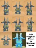 My Little Pony FiM The Sapphire Stone 2 Sculpture by Blackout-Comix