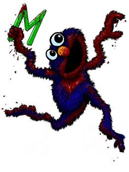 Gritty Reboot of Sesame Street: Elmo/Grover by Scrybe
