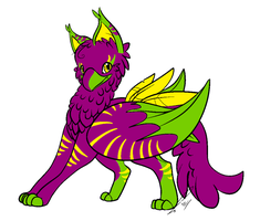 Name Your Price Tropical Gryphon-CLOSED by Theo-and-Clara