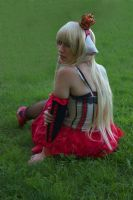 Green grass and red skirt by Shiradeimune