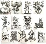 Califur 2016 Ink Sketches by OrcaOwl