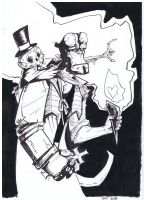 INktober: Hellboy and Mr Daper by BAM---BAM