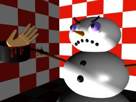 Angry Snowman by Clukyrat