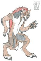 Snarly Werewolf - Colored by SunlightRyu