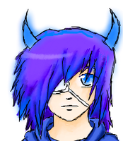 guy with horns by twigglesbear