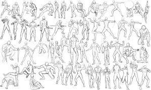 56 Male poses by xFalkenx