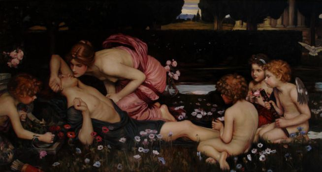 El Despertar de Adonis. Waterhouse by telleira