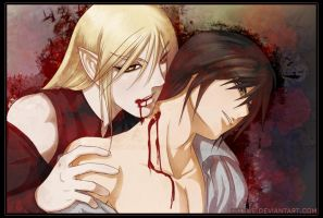 To Feed: Cross and Kaede by celyne
