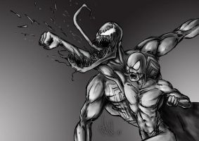 spiderman vs venom by TuaX