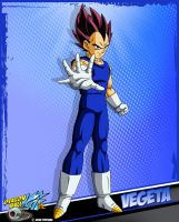 DBKai card #14 Vegeta by Bejitsu