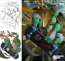 TMNT Michaelangelo (2014) by RecklessHero
