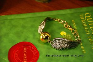 Golden Snitch Bracelet by kittykat01