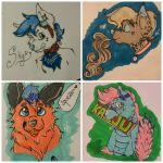 Personalized Commission Badges (starting at) $5! by shewhochaseshallows