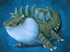 It's a big, puggy, alligator monster! by MasaBear