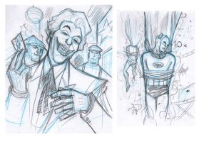Batman 66 - sample 2013 Joker by DenisM79
