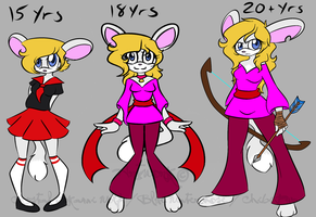 Zoey through the Years (Plus New Ref 2014) by BlueWaterRose