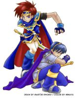Marth and Roy by Mast3r-sword by Minaya