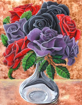 Acrylic Rose Bouquet by Sonicgirl582