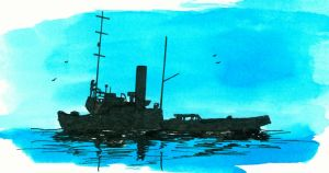 Russian [submarine] depot ship Varonis around 1944 by roodbaard1958