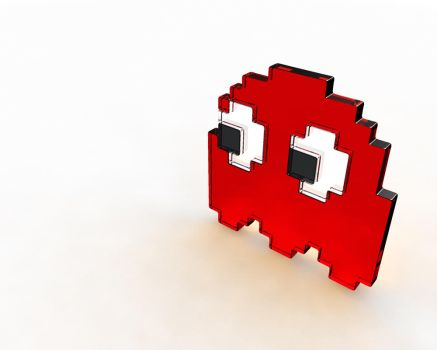 Pac Man Ghost - Red by cubik-deviantart