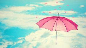 UMBRELLA PINK wallpaper by AlekSakura