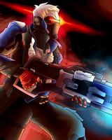 Overwatch Poster - Soldier 76 by AndrewMartinD