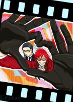 Grell and Will - Kuroshitsuji by Enotus