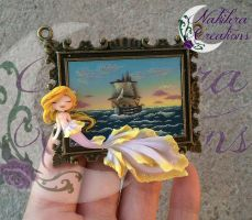 Sailing ship with Mermaid cammeo by Nakihra
