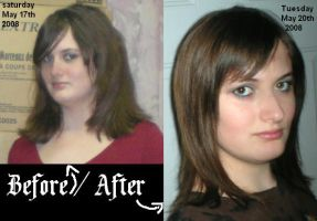 My Hair Before and After by Acid-Rain0929