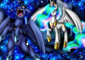 Luna turns into Nightmare Moon by ChristalLovePkmn